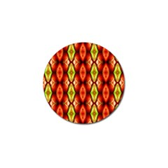 Melons Pattern Abstract Golf Ball Marker (4 Pack) by Costasonlineshop