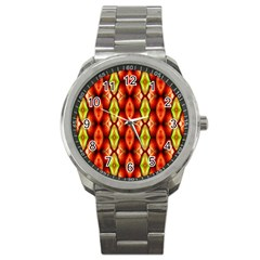Melons Pattern Abstract Sport Metal Watches by Costasonlineshop