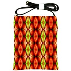 Melons Pattern Abstract Shoulder Sling Bags by Costasonlineshop