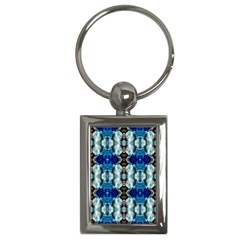 Royal Blue Abstract Pattern Key Chains (rectangle)  by Costasonlineshop