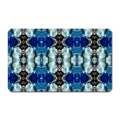 Royal Blue Abstract Pattern Magnet (rectangular) by Costasonlineshop