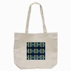 Royal Blue Abstract Pattern Tote Bag (cream)  by Costasonlineshop