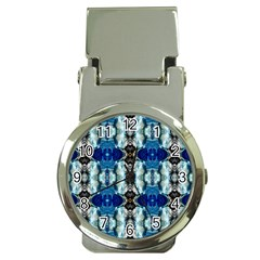 Royal Blue Abstract Pattern Money Clip Watches by Costasonlineshop