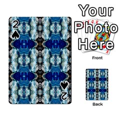 Royal Blue Abstract Pattern Playing Cards 54 Designs  by Costasonlineshop