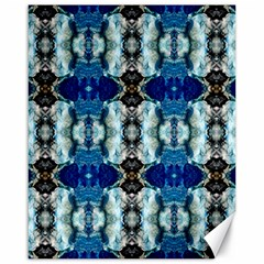 Royal Blue Abstract Pattern Canvas 16  X 20   by Costasonlineshop