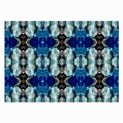 Royal Blue Abstract Pattern Large Glasses Cloth by Costasonlineshop