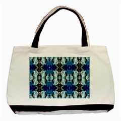 Royal Blue Abstract Pattern Basic Tote Bag (two Sides)  by Costasonlineshop