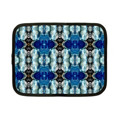Royal Blue Abstract Pattern Netbook Case (small)  by Costasonlineshop