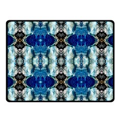 Royal Blue Abstract Pattern Fleece Blanket (small) by Costasonlineshop