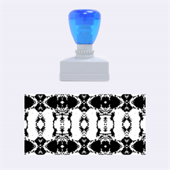 Royal Blue Abstract Pattern Rubber Stamps (medium)  by Costasonlineshop