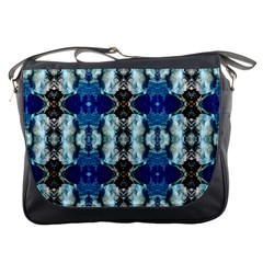 Royal Blue Abstract Pattern Messenger Bags by Costasonlineshop