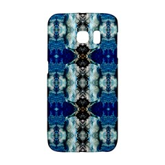 Royal Blue Abstract Pattern Galaxy S6 Edge by Costasonlineshop