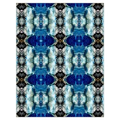 Royal Blue Abstract Pattern Drawstring Bag (large) by Costasonlineshop