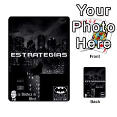 Batman Strategy Cards By Juan Diego   Multi Purpose Cards (rectangle)   N1oz9y9wrjw1   Www Artscow Com Back 12