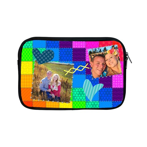 Rainbow Stitch By Digitalkeepsakes   Apple Ipad Mini Zipper Case   Amuwihhe6fzq   Www Artscow Com Front