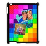 Rainbow Stitch - Apple iPad 3/4 Case (Black)