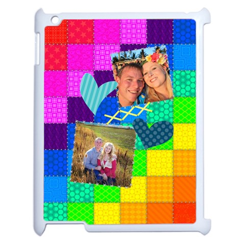 Rainbow Stitch By Digitalkeepsakes   Apple Ipad 2 Case (white)   Vvief5pyyvz8   Www Artscow Com Front