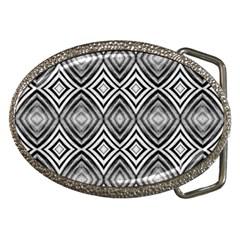 Black White Diamond Pattern Belt Buckles by Costasonlineshop