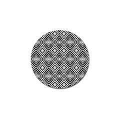 Black White Diamond Pattern Golf Ball Marker (10 Pack) by Costasonlineshop