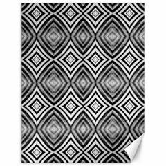 Black White Diamond Pattern Canvas 12  X 16   by Costasonlineshop