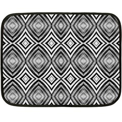 Black White Diamond Pattern Fleece Blanket (mini) by Costasonlineshop