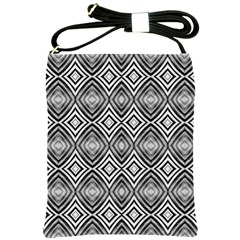 Black White Diamond Pattern Shoulder Sling Bags by Costasonlineshop