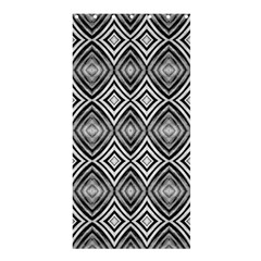 Black White Diamond Pattern Shower Curtain 36  X 72  (stall)  by Costasonlineshop