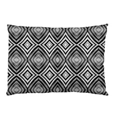 Black White Diamond Pattern Pillow Cases (two Sides) by Costasonlineshop