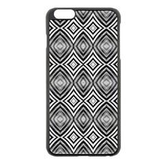 Black White Diamond Pattern Apple iPhone 6 Plus/6S Plus Black Enamel Case by Costasonlineshop