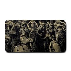 Group Of Candombe Drummers At Carnival Parade Of Uruguay Medium Bar Mats by dflcprints