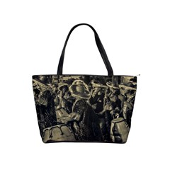 Group Of Candombe Drummers At Carnival Parade Of Uruguay Shoulder Handbags by dflcprints