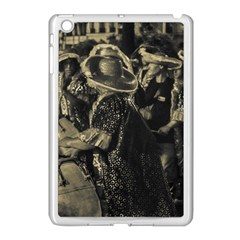 Group Of Candombe Drummers At Carnival Parade Of Uruguay Apple Ipad Mini Case (white) by dflcprints