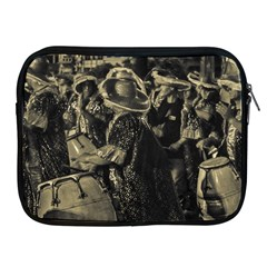 Group Of Candombe Drummers At Carnival Parade Of Uruguay Apple Ipad 2/3/4 Zipper Cases by dflcprints