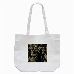Group Of Candombe Drummers At Carnival Parade Of Uruguay Tote Bag (white)  by dflcprints