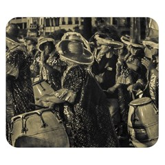 Group Of Candombe Drummers At Carnival Parade Of Uruguay Double Sided Flano Blanket (Small)  by dflcprints