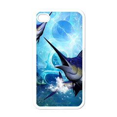 Awersome Marlin In A Fantasy Underwater World Apple Iphone 4 Case (white) by FantasyWorld7