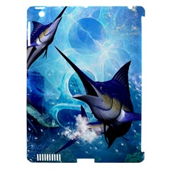 Awersome Marlin In A Fantasy Underwater World Apple Ipad 3/4 Hardshell Case (compatible With Smart Cover) by FantasyWorld7