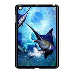 Awersome Marlin In A Fantasy Underwater World Apple Ipad Mini Case (black) by FantasyWorld7
