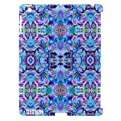 Elegant Turquoise Blue Flower Pattern Apple Ipad 3/4 Hardshell Case (compatible With Smart Cover) by Costasonlineshop