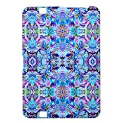 Elegant Turquoise Blue Flower Pattern Kindle Fire Hd 8 9  by Costasonlineshop