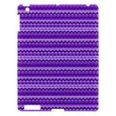 Purple Tribal Pattern Apple iPad 3/4 Hardshell Case by KirstenStar