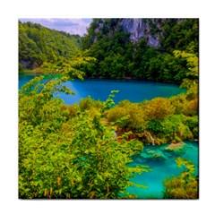 Plitvice, Croatia Face Towel by trendistuff