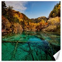 Jiuzhaigou Valley 1 Canvas 16  X 16   by trendistuff