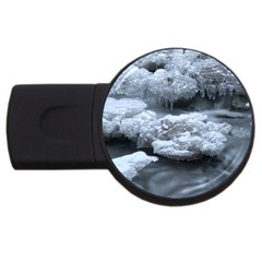 Ice And Water Usb Flash Drive Round (4 Gb)  by trendistuff