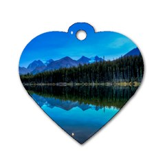 Herbert Lake Dog Tag Heart (two Sides) by trendistuff