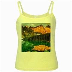 Banff National Park 4 Yellow Spaghetti Tanks by trendistuff