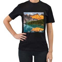 Banff National Park 4 Women s T Shirt (black) (two Sided) by trendistuff