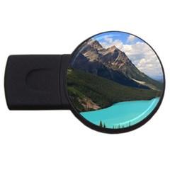 Banff National Park 3 Usb Flash Drive Round (2 Gb)  by trendistuff