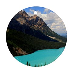 Banff National Park 3 Round Ornament (two Sides)  by trendistuff