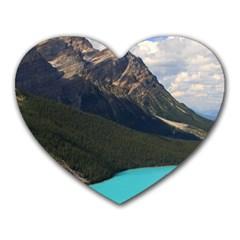 Banff National Park 3 Heart Mousepads by trendistuff